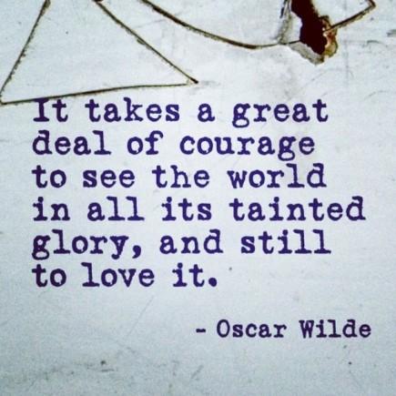 oscar wilde courage